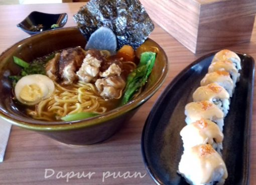 Ramen Berbonus Rice Roll di Ichiban Sushi
