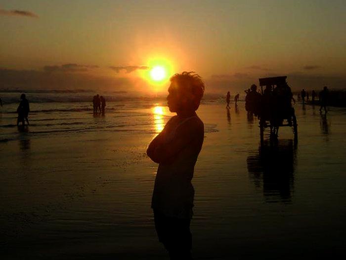 Senja di pantai Parangtritis