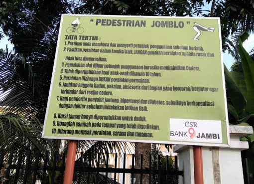 Tatatertib Pedestrian Jomblo