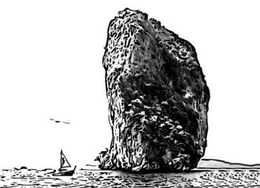 Batu besar di pantai