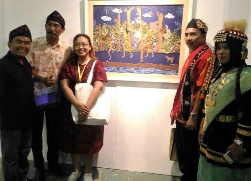 Textile Art tentang Orang Rimba Tampil di Pameran Besar Seni Rupa ke