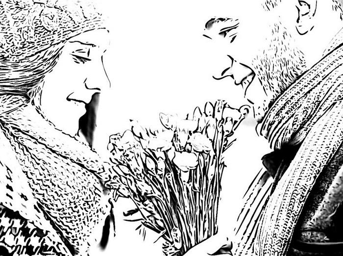 pasangan dengan bunga1